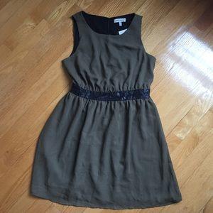 NWT Monteau Green Flare Dress